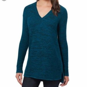 NWT Ellen Tracy teal tunic sweater